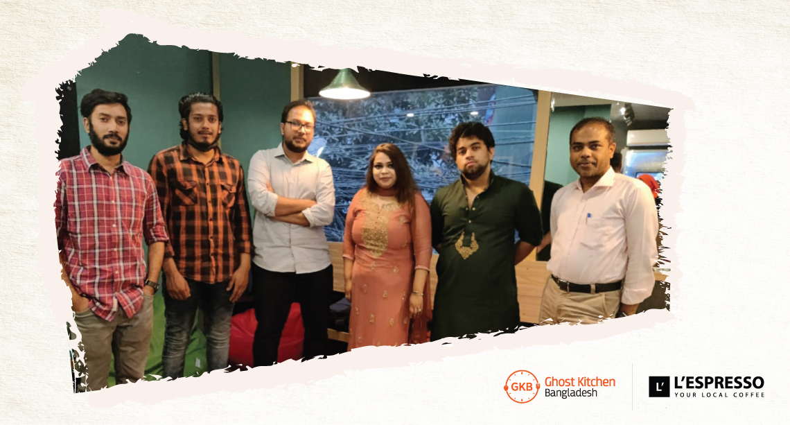 Ghost Kitchen Bangladesh (GKB), Bangladesh's first internet restaurant marketplace, has inked a deal with L'espresso Coffee, an innovative local coffee startup based in the city.